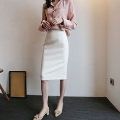 Hello sweety - Slit-Back Pencil Skirt