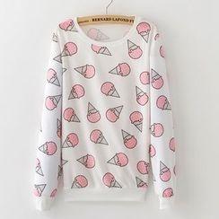 Maymaylu Dreams - 红粉冰淇淋长袖T恤上衣