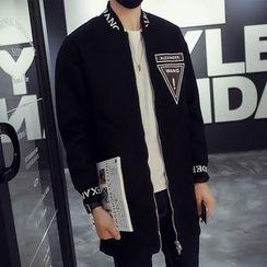 Besto - Print Zip Long Jacket
