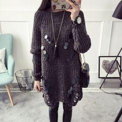 Qimi - Sequined Knit Dress