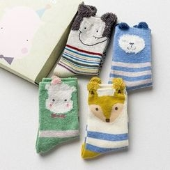 March Daisy - Kids Set of 4 : Printed Socks