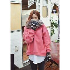 GOROKE - Brushed-Fleece Lined Colored Sweatshirt
