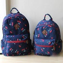 Ms Bean - Cherry Print Lightweight Backpack