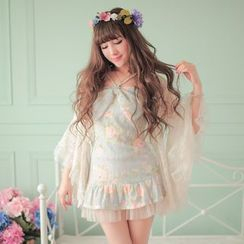 Candy Rain - Bell-Sleeve Lace Jacket