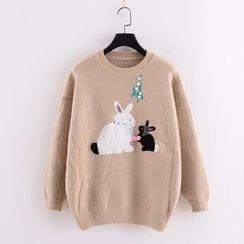 Tulander - 小兔抓毛针织上衣