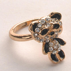 Fit-to-Kill - Diamond Panda Ring - Black
