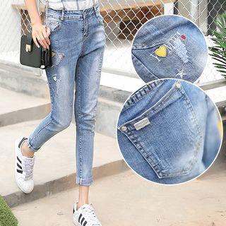 Crown Nine - Distressed Skinny Jeans