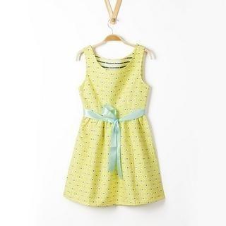 JVL - Sleeveless Dotted A-Line Dress