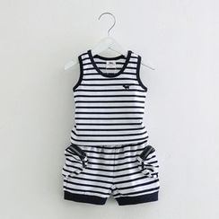Seashells Kids - Kids Set: Stripe Tank Top + Shorts