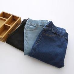 Bonbon - Elastic Waist Slim-Fit Jeans