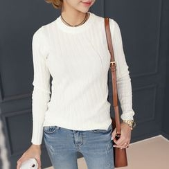 DANI LOVE - Round-Neck Ribbed Sweater