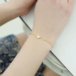 Zundiao - Sterling Silver Heart Bracelet