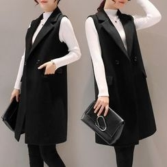 Alisha - Double Breasted Long Vest