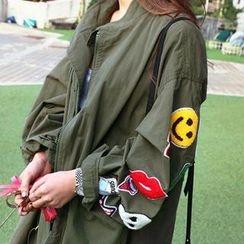 NANING9 - Appliqué Drawstring-Waist Jacket