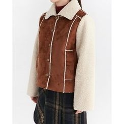 Someday, if - Snap-Button Faux-Shearling Jacket