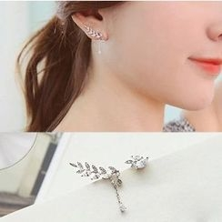 Gioia - Rhinestone Non-matching Earrings