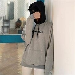 CHICFOX - Lettering Hooded Pullover