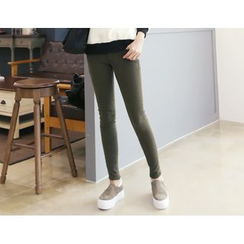 DANI LOVE - Brushed-Fleece Lined Skinny Pants