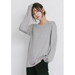 GOROKE - Round-Neck Colored T-Shirt