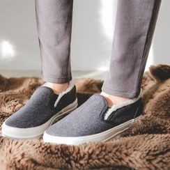 JUSTONE - Faux-Fur Lined Slip-Ons