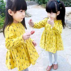 CUBS - Kids Tree Print Long-Sleeve A-Line Dress
