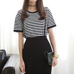 Romantica - Suspender Midi Skirt