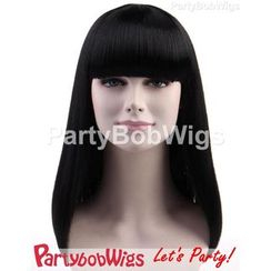 Party Wigs - PartyBobWigs - Party Long Bob Wigs - Black