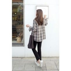 CHERRYKOKO - Fray-Hem Straight-Cut Pants