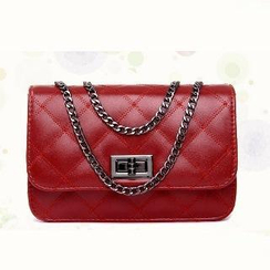 BeiBaoBao - Faux-Leather Quilted Cross Bag