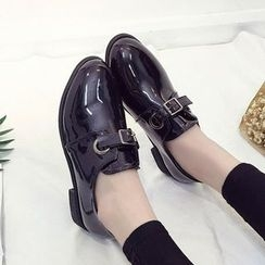 SouthBay Shoes - Patent Buckled Loafers