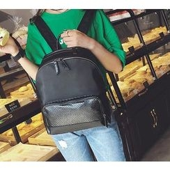 Secret Garden - Faux Leather Backpack