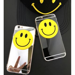 Cartoon Face - Smiley Mirror Case - Apple iPhone 5 / 6 / 6 Plus