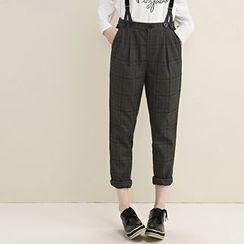 Qiuke - Plaid Jumper Pants