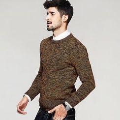 Quincy King - Melange Knit Pullover