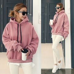 DANI LOVE - Hooded Brushed-Fleece Lined Pullover