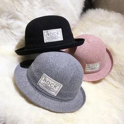 FROME - Lettering Appliqué Bowler Hat