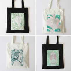 TangTangBags - Girl Print Canvas Shopper Bag