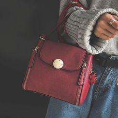 優尚良品 - 仿皮手提包連肩帶