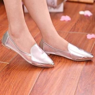 SouthBay Shoes - Metal-Tip Mesh Panel Pointy Flats