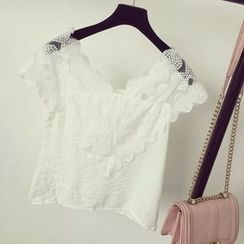 Honeydew - Short-Sleeve Lace Trim T-Shirt