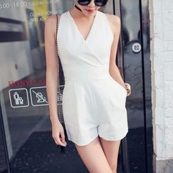 Tang House - Open-back Sleeveless Playsuit