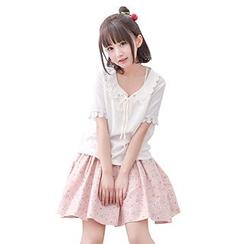 Moriville - 拼接短袖衬衫