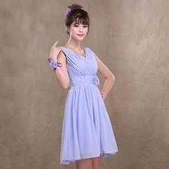 Annier - Empire Chiffon Party Dress