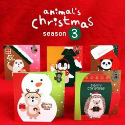 Full House - Bookfriends - Set: Christmas Cards 5pcs + Metal Bookmarks 5pcs