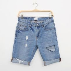 Mr. Cai - Distressed Denim Shorts