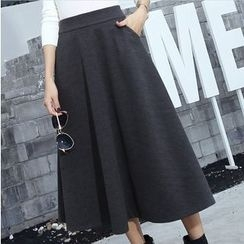 Hazie - Plain Knit Skirt