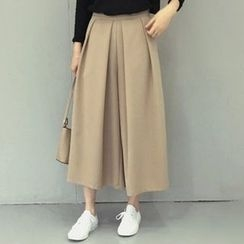 Iscat - Plain Pleated Culottes