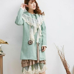 Blue Hat - 蕾絲邊大衣