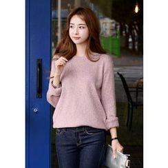 DEEPNY - Round-Neck Mélange Sweater