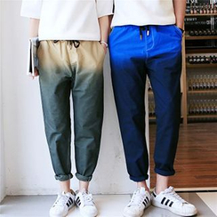 Azure - Couple Matching Gradient Drawstring Pants